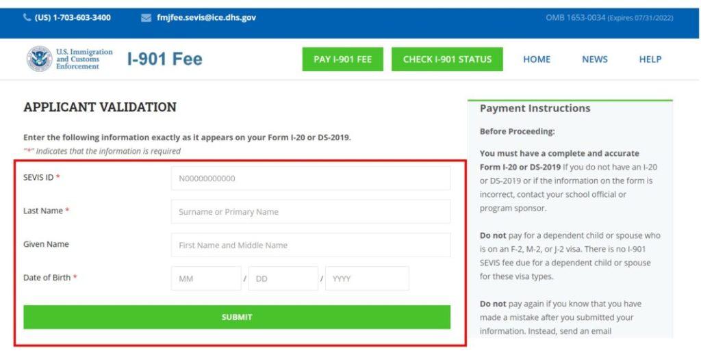 pay i-901 fee 1