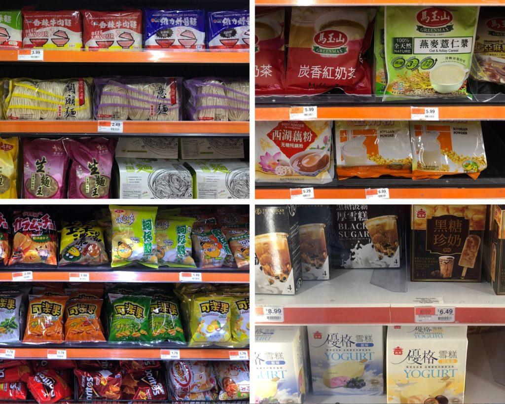 美國華人超市-台灣泡麵餅乾