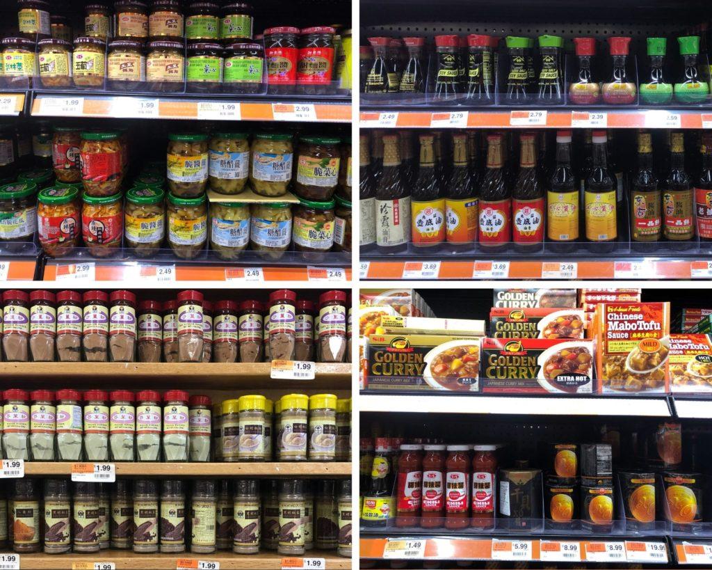 美國華人超市-各式調味料