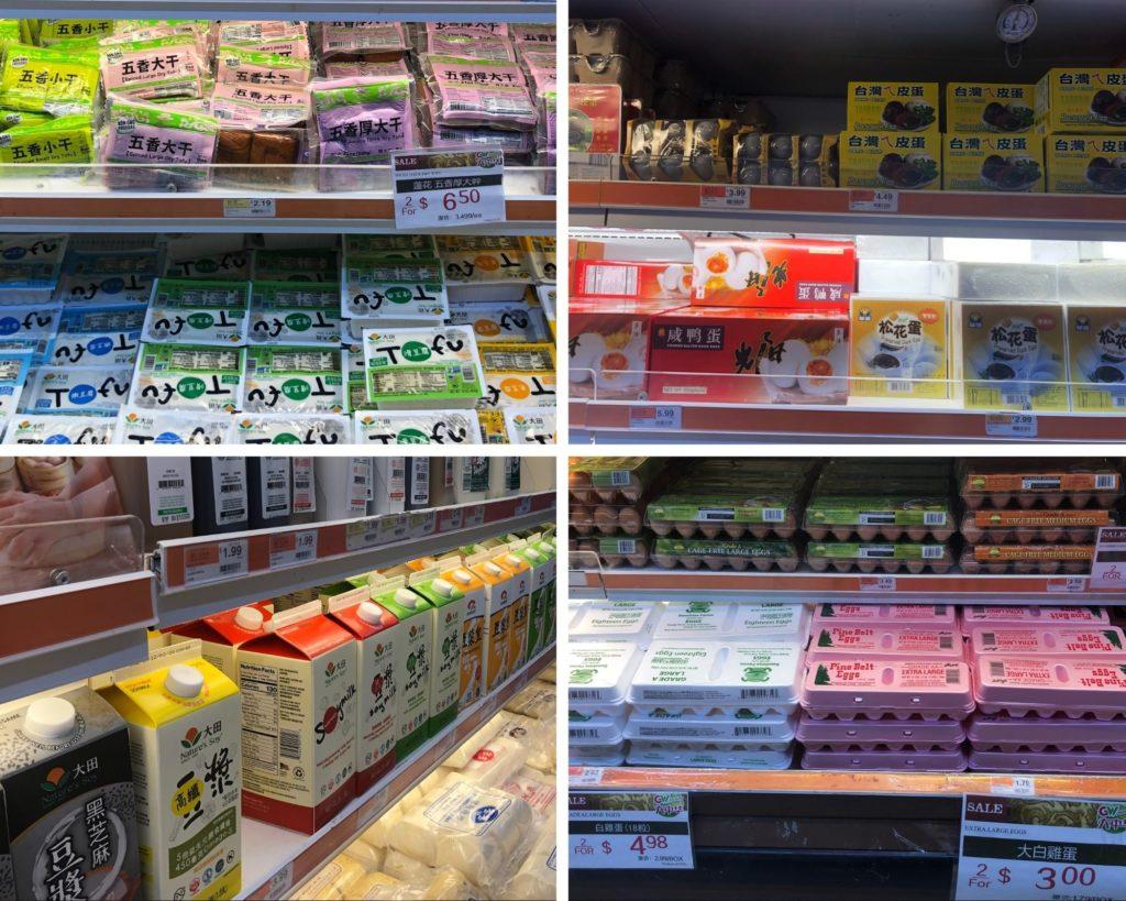 美國華人超市-蛋奶豆製品