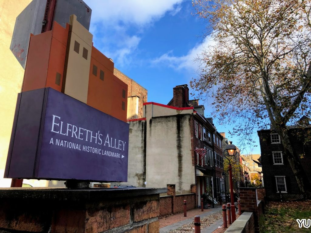 費城景點-愛福士小巷 Elfreth's Alley