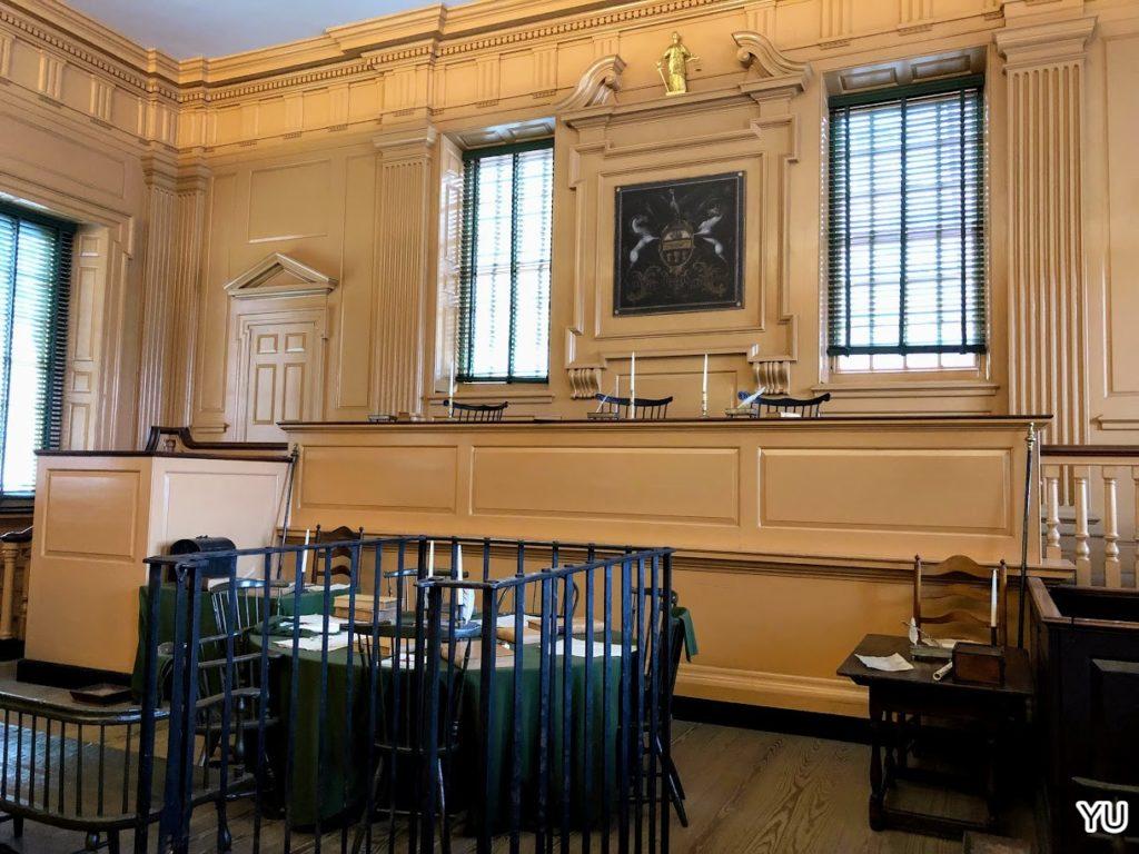 費城景點-獨立廳-法庭
