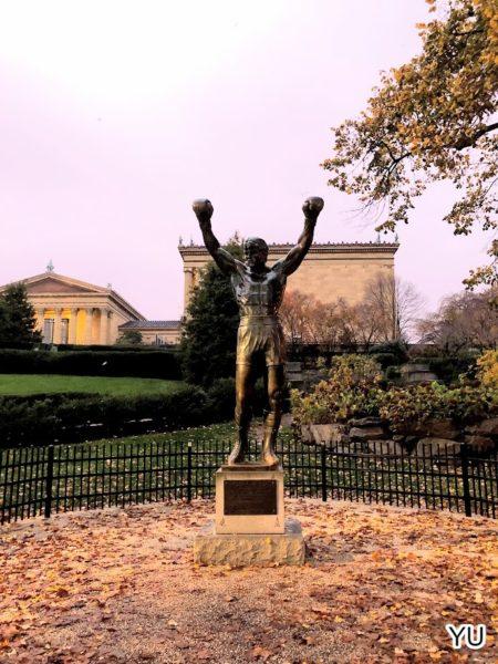 費城景點-藝術博物館-洛基雕像