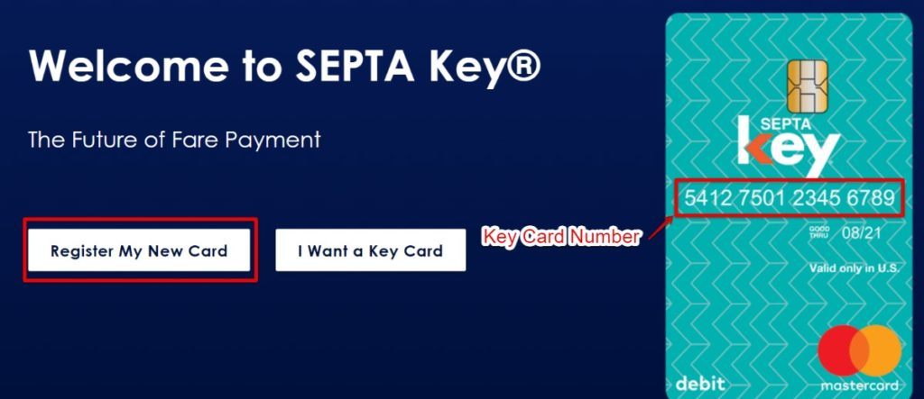 SEPTA Key card register 1