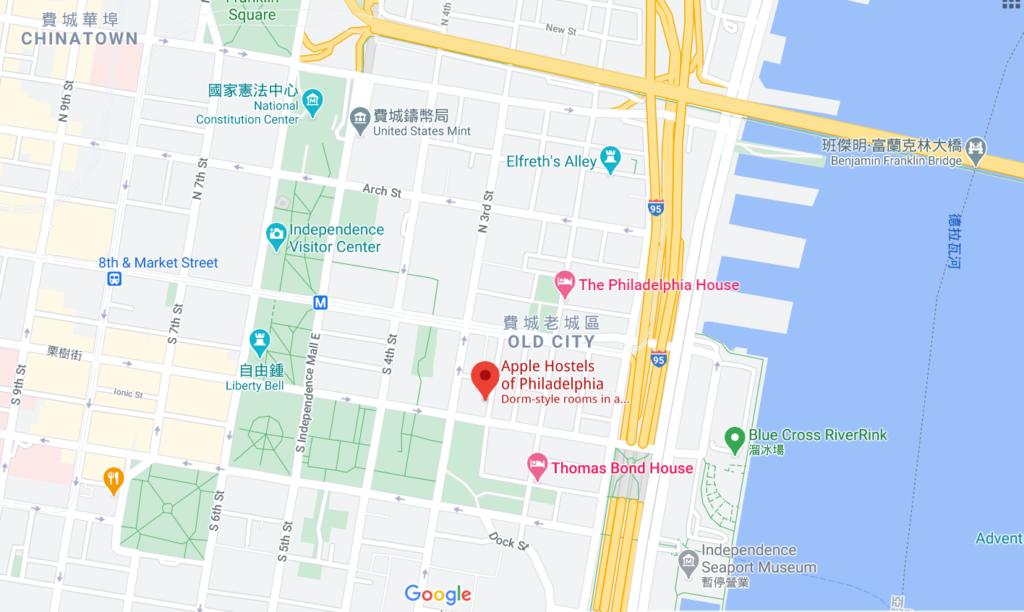 apple hostel of philadelphis - google maps