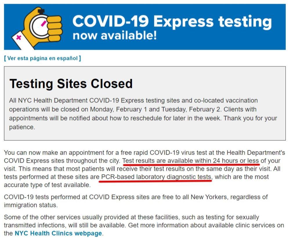 紐約免費covid19核酸檢測-COVID-19- Rapid Testing