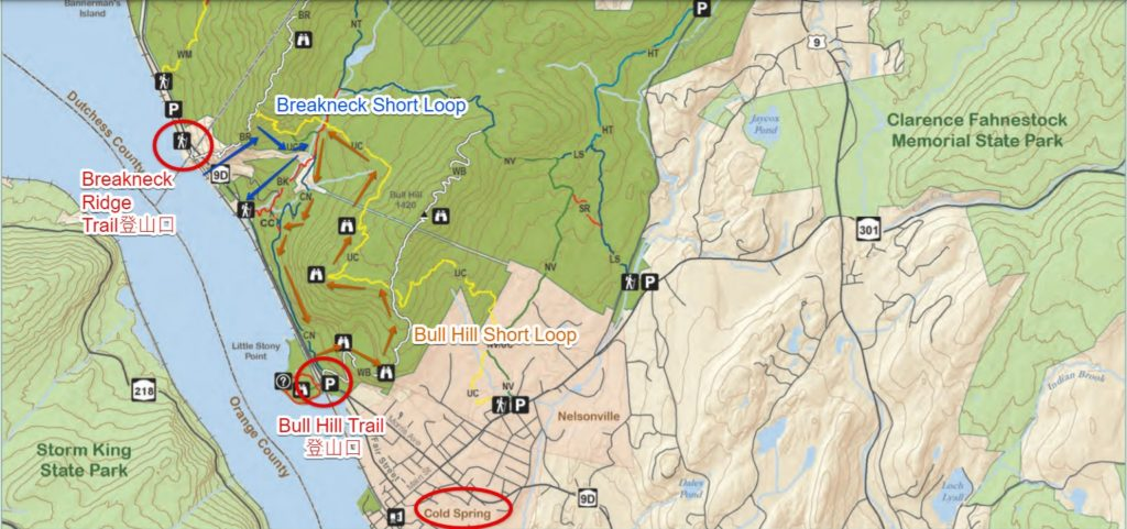 紐約爬山Breakneck Ridge Trail - 地圖 2