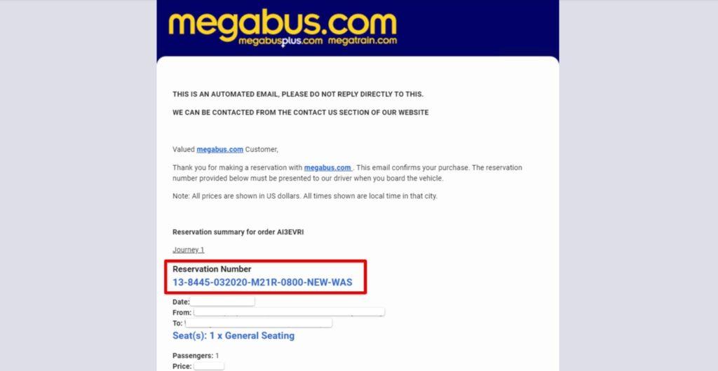 megabus 購票 - 如何取票